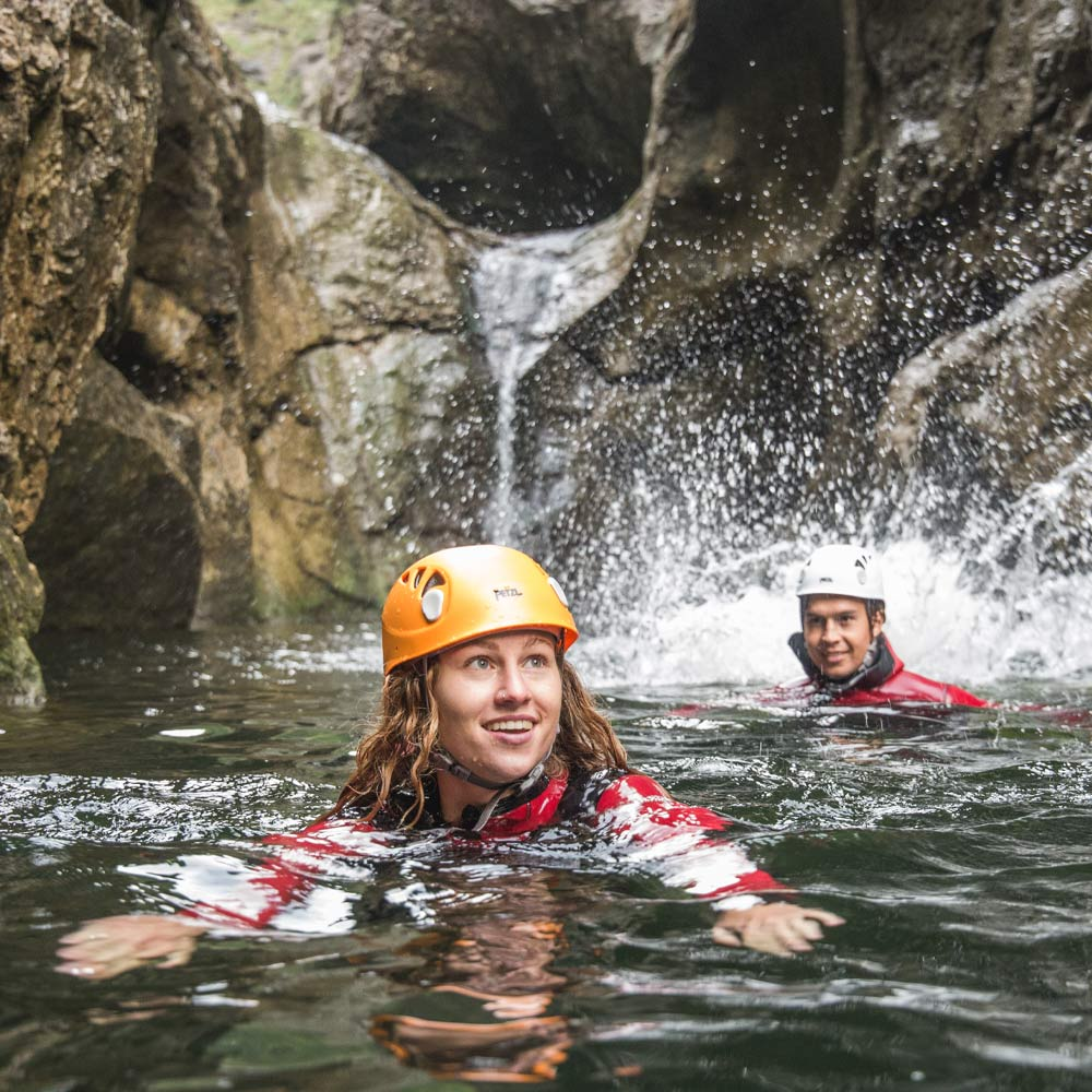 Wildwasser Canyoning in Weißbach bei Lofer