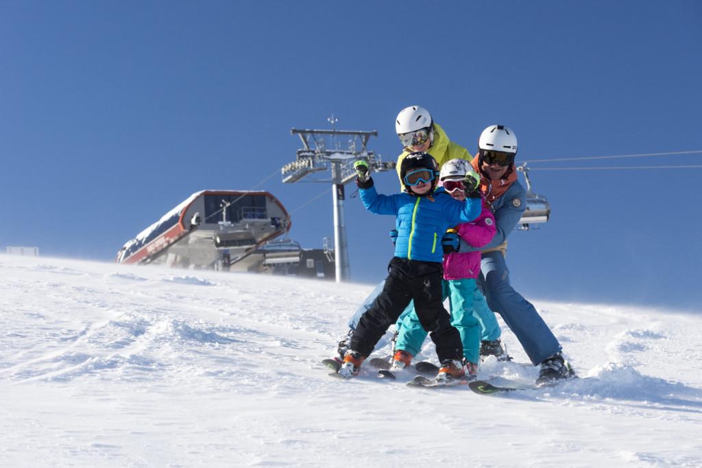 Schifahren mit Kinder